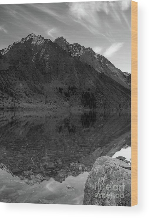Monotone Wood Print featuring the photograph Convict Lake by Chris Morrison