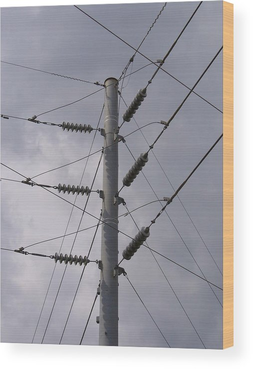 Outdoor Wood Print featuring the photograph Crossed Wires by Stephanie Richards