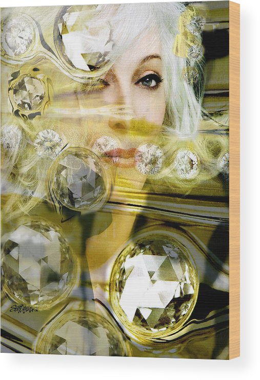Women Wood Print featuring the digital art Darling Diamonds by Seth Weaver