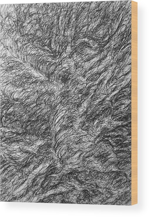 Landscape Wood Print featuring the drawing Decay by Uwe Schein