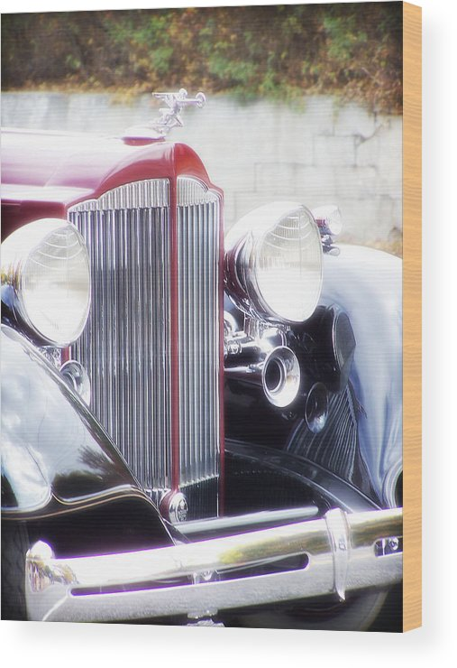 Antique Car Wood Print featuring the photograph Dream Boat by Catherine Utschig