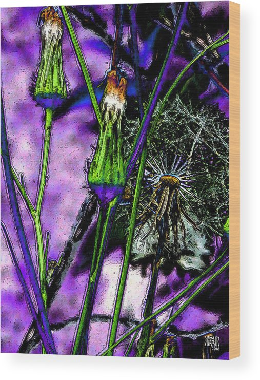 Flowers Wood Print featuring the digital art Earth Nail by Michele Caporaso
