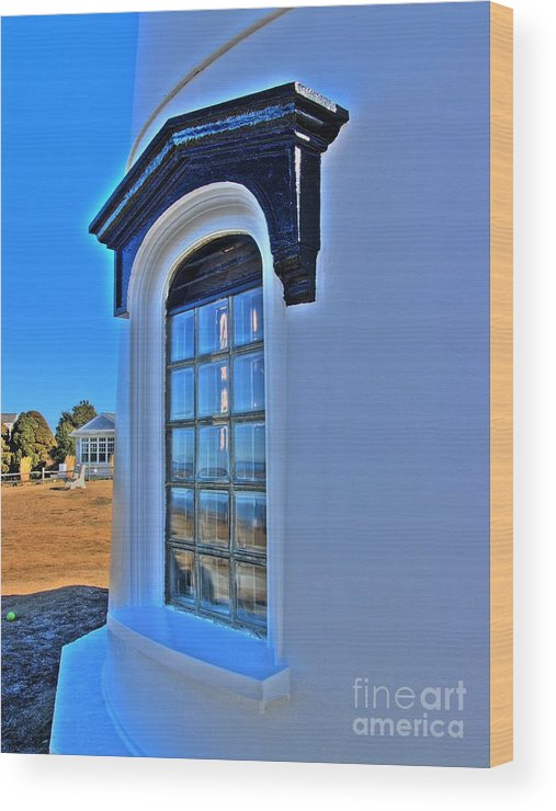 Wood Print featuring the photograph East Chop Light by Carol Christopher