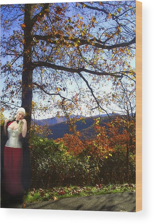Fall Wood Print featuring the photograph Elegant Fall by Scarlett Royal
