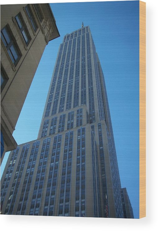 Emoire State Building Wood Print featuring the photograph Empire State 2 by Anita Burgermeister
