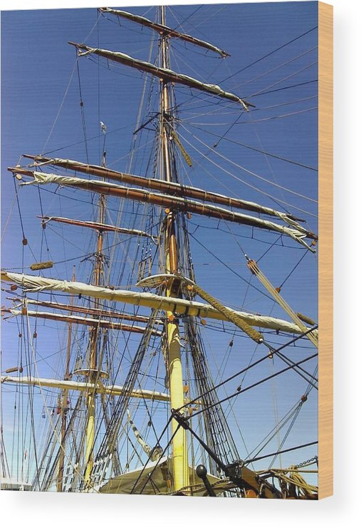 Wood Print featuring the photograph Era Of Sail by Bethwyn Mills