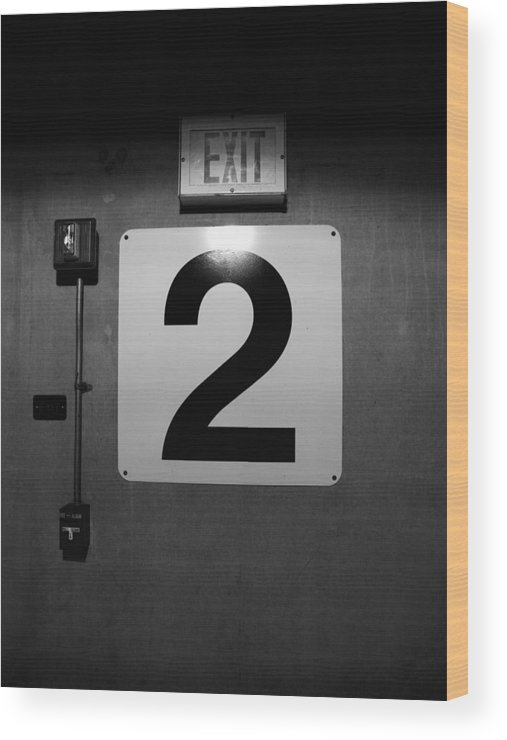 Door Wood Print featuring the photograph Exit Two by Bob Orsillo