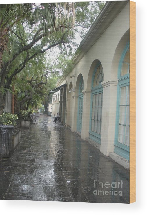 French Market Wood Print featuring the photograph French Market Alley by Jo Anna McGinnis