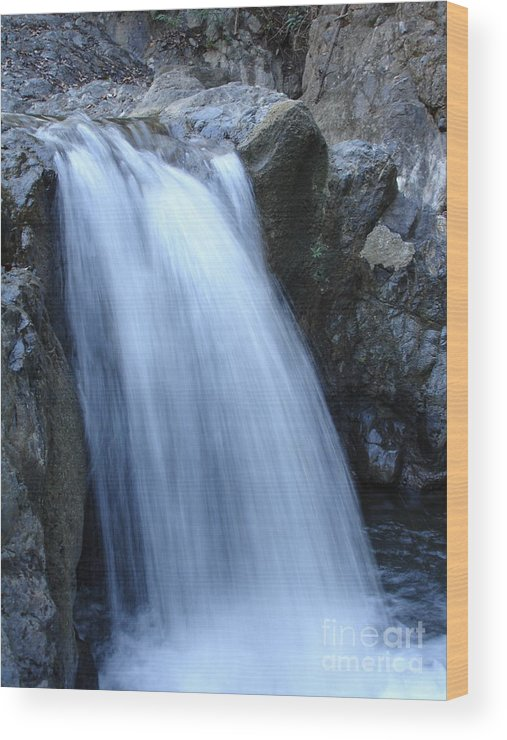 Waterfalls Wood Print featuring the photograph Frozen Water by Chad Natti