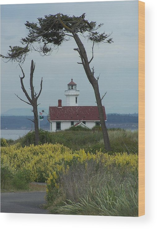 Light House Wood Print featuring the photograph Ft. Warden Lighthouse by Gene Ritchhart