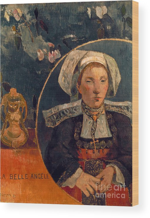 1889 Wood Print featuring the photograph Gaugin: Belle Angele, 1889 by Granger