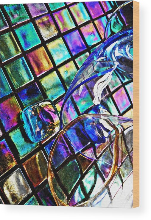 Glass Wood Print featuring the photograph Glass Abstract 696 by Sarah Loft