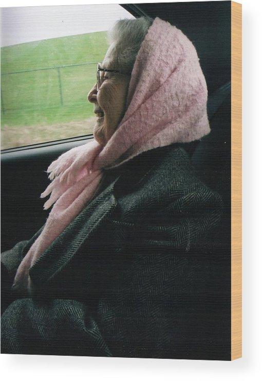 Grandma Wood Print featuring the photograph Grandma by Crystal Webb