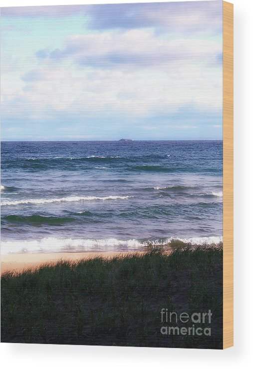 Little Presque Isle Wood Print featuring the photograph Granite Island by Phil Perkins