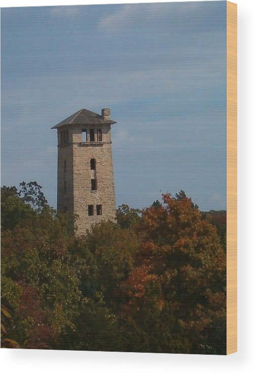Water Tower Wood Print featuring the photograph Ha Ha Tonka Water Tower by Sara Raber