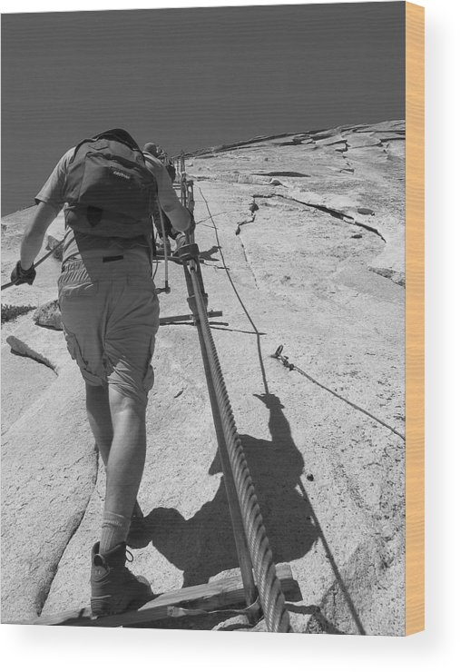 Half Dome Wood Print featuring the photograph Half Dome Cables by Travis Day