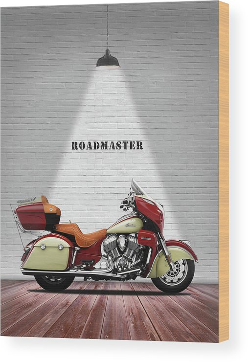 Indian Roadmaster Wood Print featuring the photograph The Roadmaster by Mark Rogan