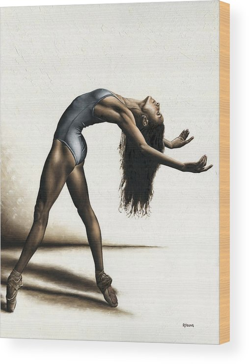 Dance Wood Print featuring the painting Invitation To Dance by Richard Young