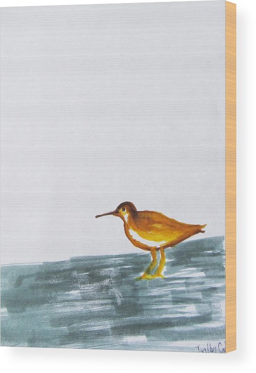 Sandpiper Wood Print featuring the painting Joy To You by Trilby Cole