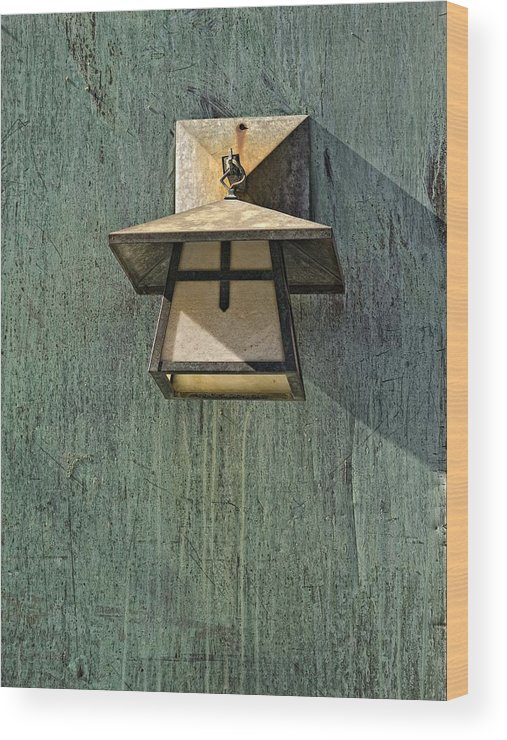 Lamp Wood Print featuring the photograph Lamp 2 by Robert Ullmann