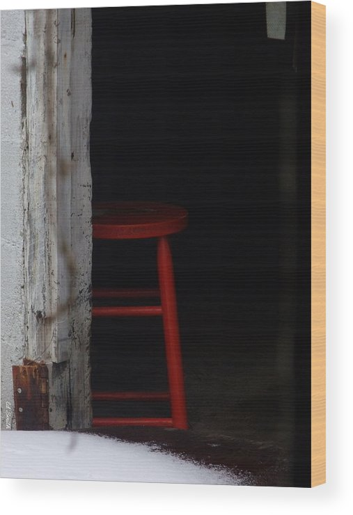 Last Man Standing. Stool Wood Print featuring the photograph Last Man Standing by Edward Smith