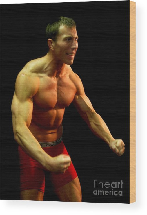Muscular Wood Print featuring the photograph Like This by Sunset Road Fitness Photography