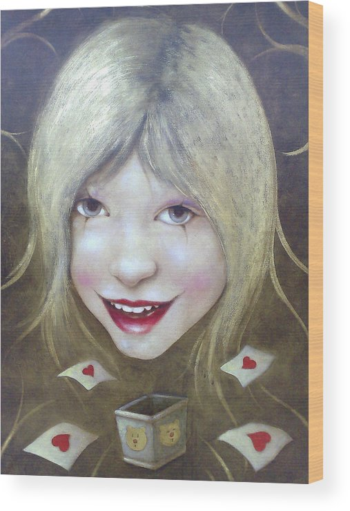 Canvas Wood Print featuring the painting Lolita Died by Lorenzo Fontana ALBAURA