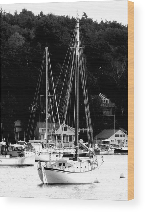 Boats Wood Print featuring the digital art Lone Boat by Donna Thomas