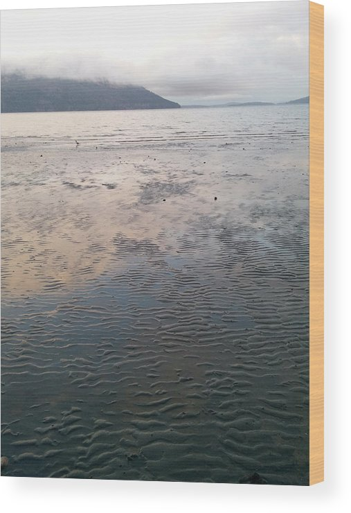 Wood Print featuring the photograph Low Tide by Maria Verdicchio