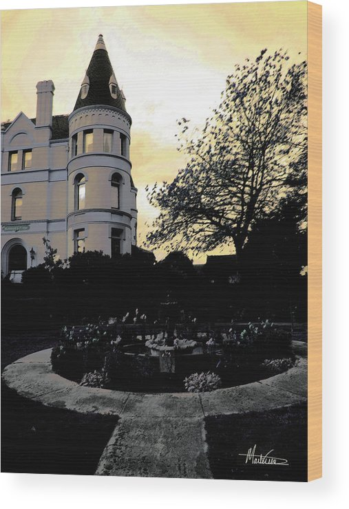Castle Wood Print featuring the photograph Manresa Castle by Marti Green
