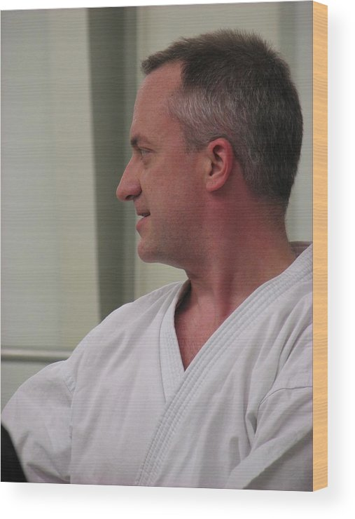 Karate Wood Print featuring the photograph Michael by Kelly Mezzapelle
