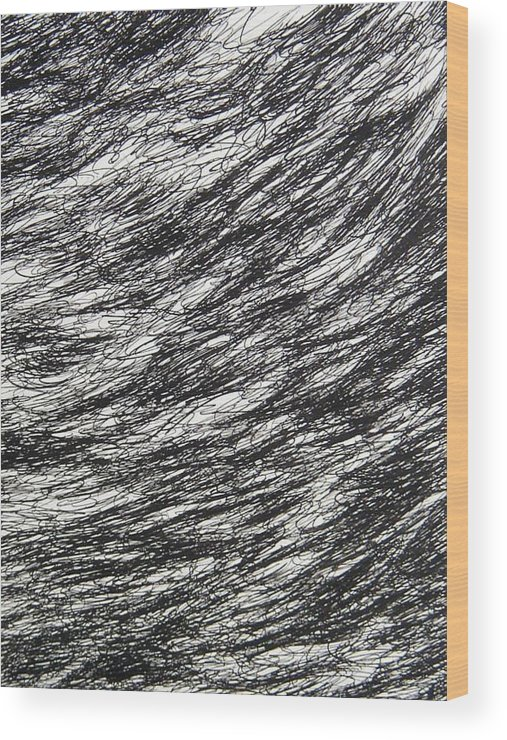 Landscape Wood Print featuring the drawing Movement by Uwe Schein