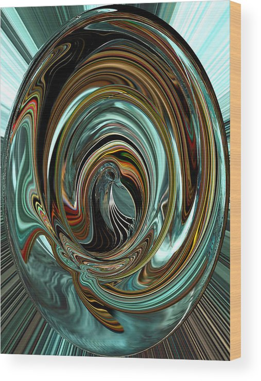 Abstract Wood Print featuring the digital art Natures Cherished by Beverly Kimble Davis