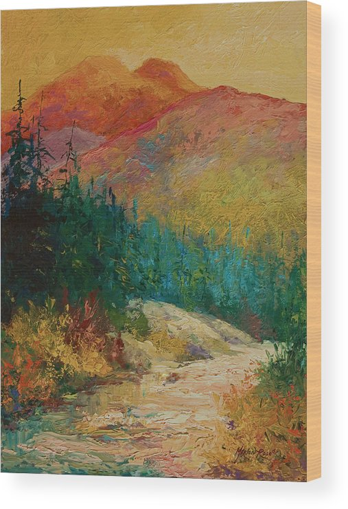 Alaska Wood Print featuring the painting Northern Essence by Marion Rose