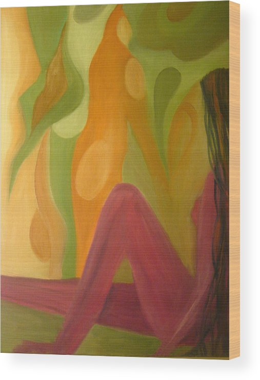 Oil Paints Wood Print featuring the painting Nothing To Lose by Modern Palette Art