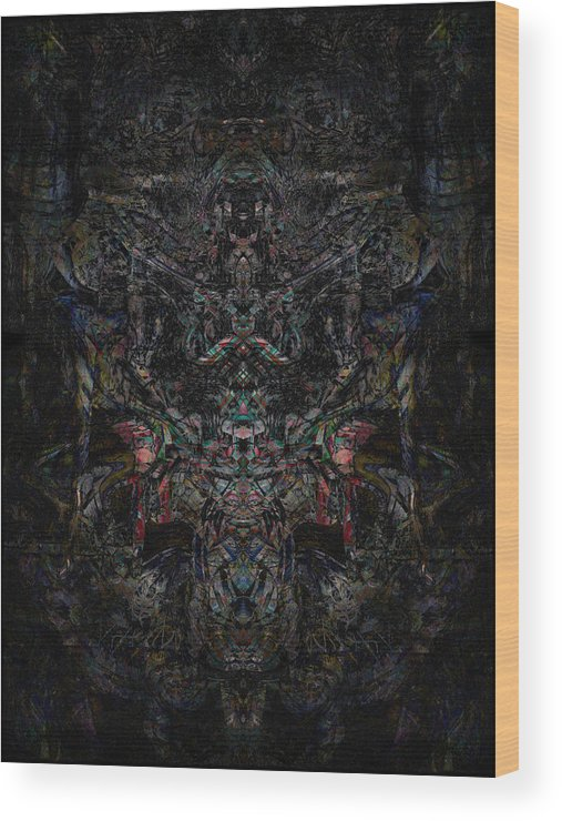 Deep Wood Print featuring the digital art Oa-5520 by Standa1one