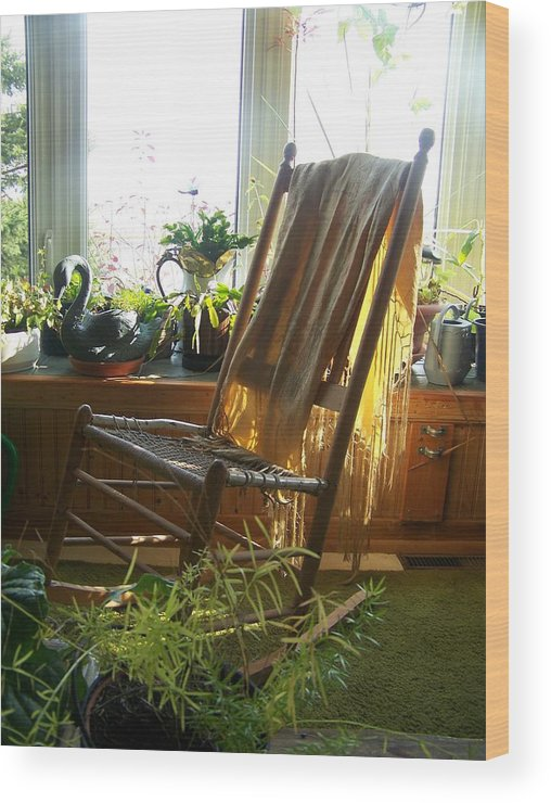 Rocking Chair Wood Print featuring the photograph Off My Rocker - Photograph by Jackie Mueller-Jones