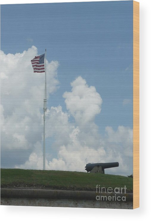 Flag Wood Print featuring the photograph Oh Say Can You See by Barb Montanye Meseroll