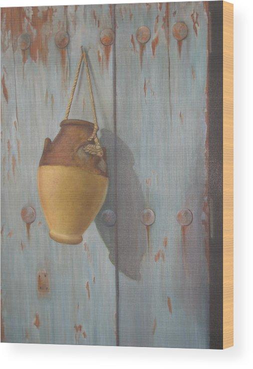 Door Wood Print featuring the painting 'old Door' by Marina Harris