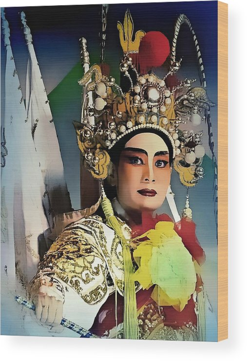China Wood Print featuring the photograph Opera Warrior by Ian Gledhill