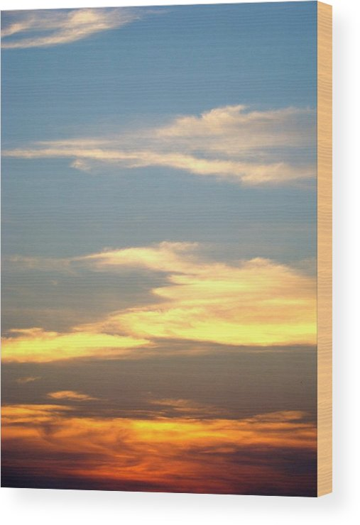 Sunset Wood Print featuring the photograph Painted Sky by Ana Villaronga