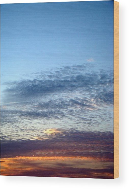 Sky Wood Print featuring the photograph Painted Sky Six by Ana Villaronga