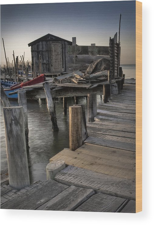 Boat Wood Print featuring the photograph Pier by Homydesign