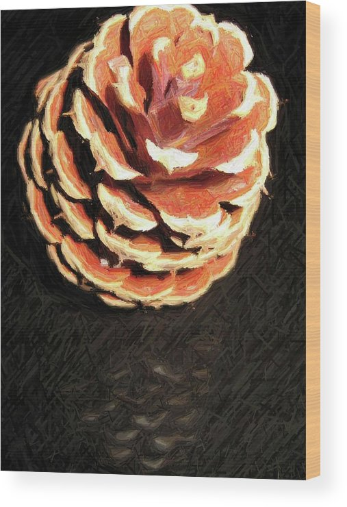 Pine Wood Print featuring the photograph Pitch Pine Cone by Susan Carella
