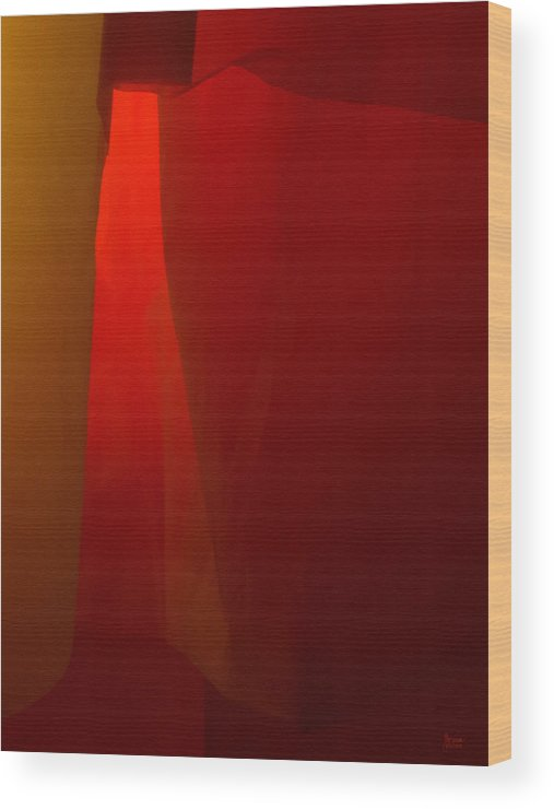 Abstract Wood Print featuring the photograph Poncho Abstract 1 by Jeff Breiman