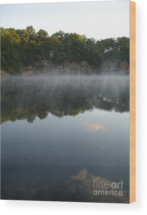 Landscape Wood Print featuring the photograph Quarry Reflections by Chad Natti