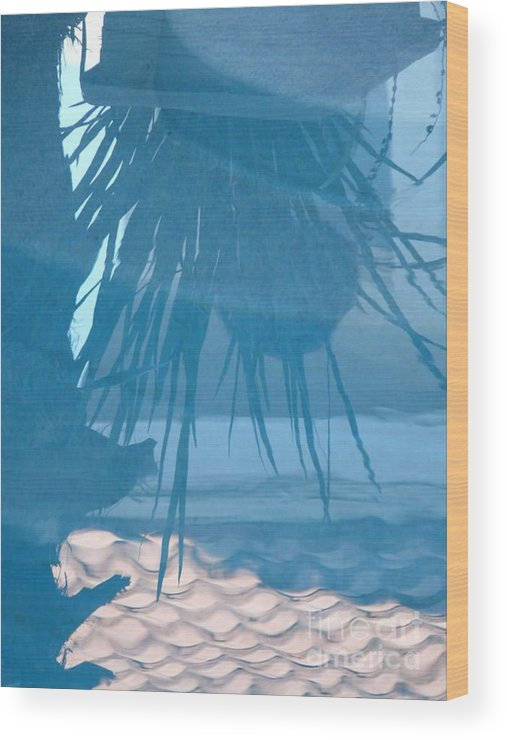 Digital Wood Print featuring the photograph Reflection In Blue by Donna McLarty