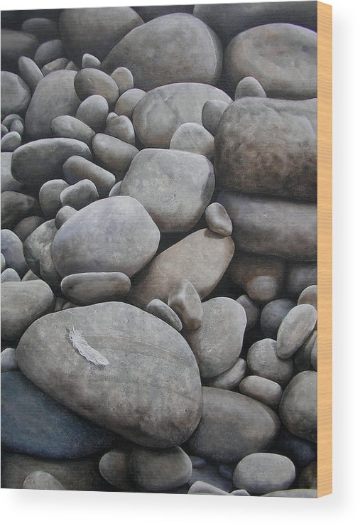 Piedras Wood Print featuring the painting Riverbank Of Napo by Laine Garrido