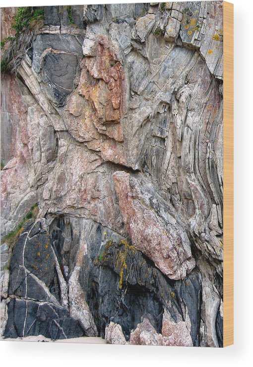 Rock Wood Print featuring the photograph Rock Forms by Mike Bambridge