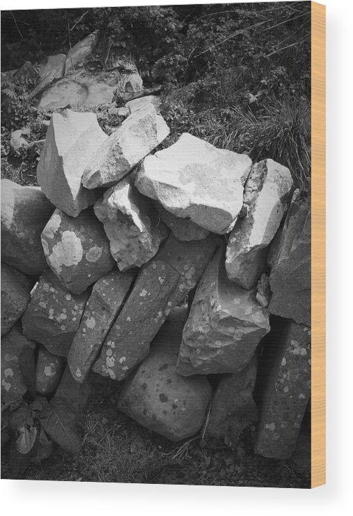 Irish Wood Print featuring the photograph Rock Wall Doolin Ireland by Teresa Mucha